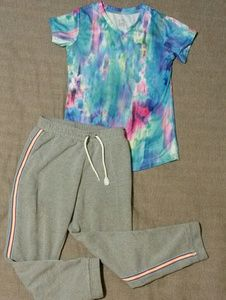 Other - Girls XL set of active tee & sweatpants